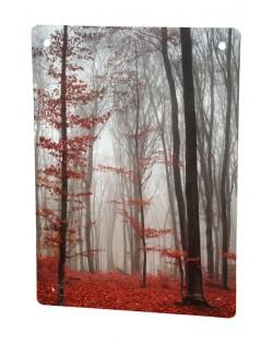 Grzejnik szklany z nadrukiem jesień