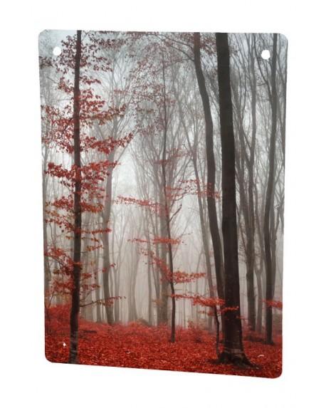 Grzejnik szklany ze zdjęciem jesień