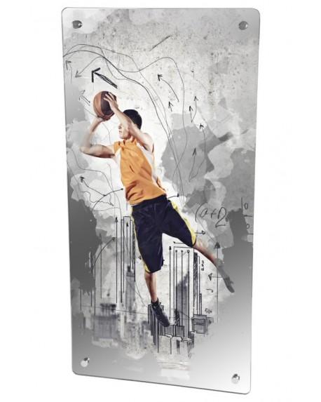 Grzejnik szklany z nadrukiem basketball