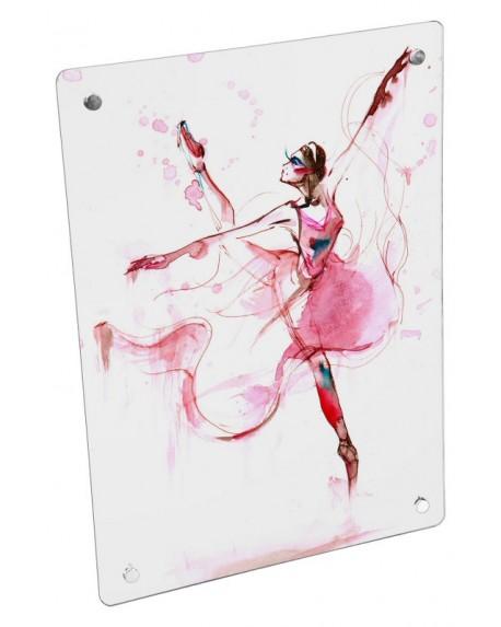 Grzejnik szklany z nadrukiem baletnica