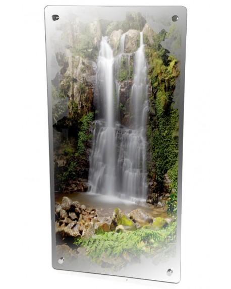 Grzejnik szklany z nadrukiem las