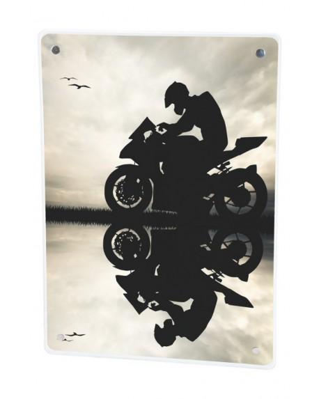 Grzejnik szklany z nadrukiem moto