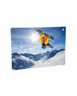 Grzejnik szklany z nadrukiem snowboard