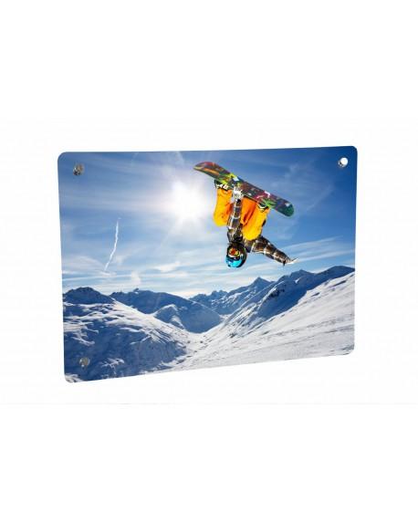 Grzejnik szklany ze zdjęciem snowboardzisty