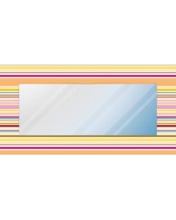 """Lustro dekoracyjne """"kolorowe linie poziom"""""""