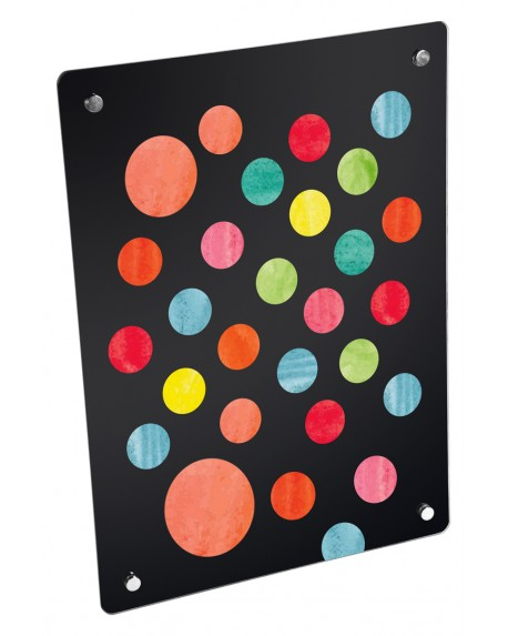 Grzejnik szklany z nadrukiem kolorowe kropki