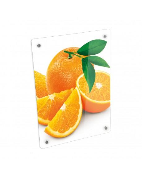 Grzejnik szklany z nadrukiem pomarańcze