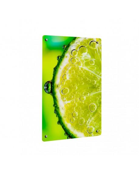 Grzejnik szklany z nadrukiem limonka