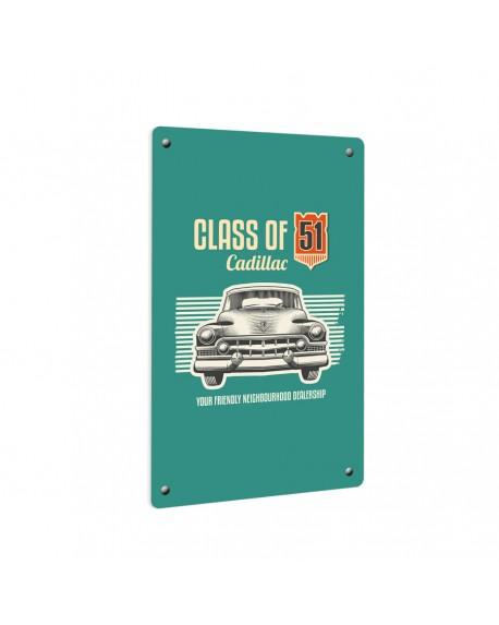 Grzejnik szklany z nadrukiem vintage car