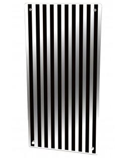 Grzejnik szklany z nadrukiem czarne pasy