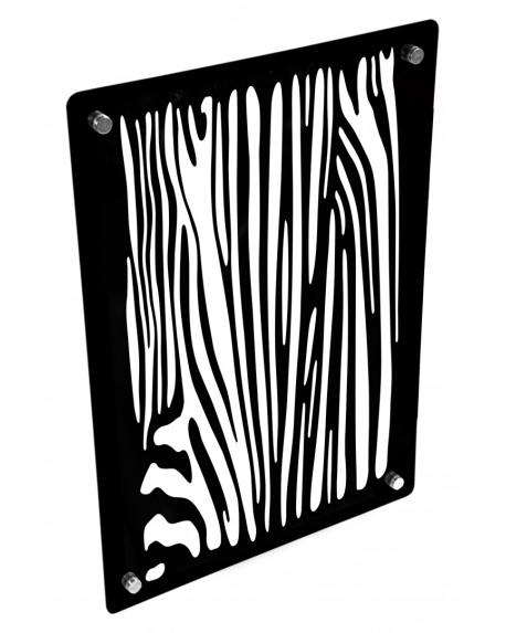 Grzejnik szklany z nadrukiem pasy zebra